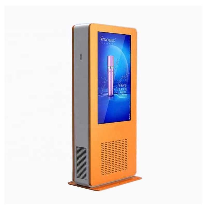 75 inch Free Standing Vertical Outdoor Waterproof Sunlight Readable LCD Monitor for Advertising Display