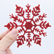 cheap plastic outdoor white snowflake ornaments for Christmas