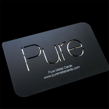 steel black metal custom business card