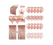 Rose Gold Party Decorations Set Supplier for Girls Birthday Bridal Wedding Engagement Celebration