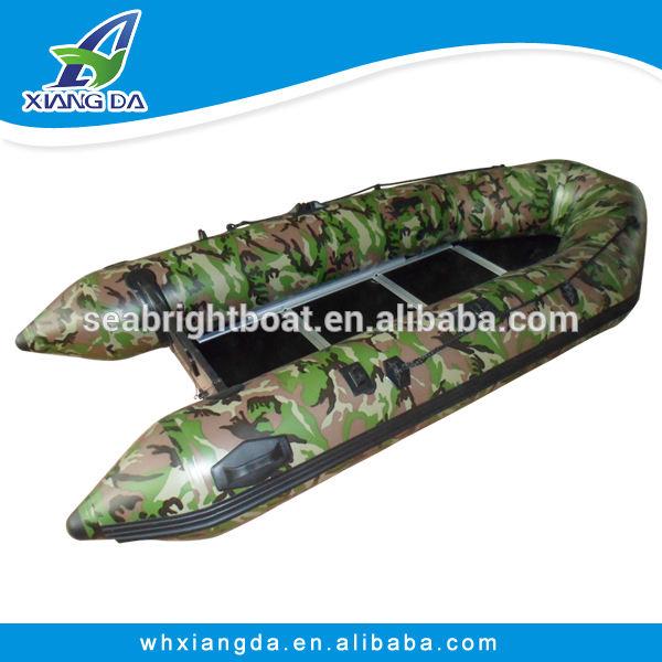 Pvc gonflable bateau de pêche avec Universal porte - canne à