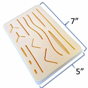 Suture Pad - Practice Your Suturing and Medical Training - Large - 3 Layers with Skin Wounds - Anti-Slip Base - Added Webbing Be