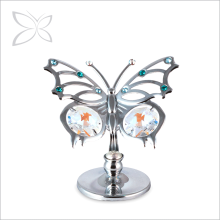 Crystocraft Chrome Plated Crystals Angelwing Butterfly Metal Figurine Wedding Favor Home Ornament
