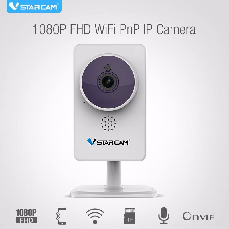 Indoor di piccola dimensione hot video h.264 ir-cut cmos pnp onvif 1080 p p2p cctv telecamere di sicurezza