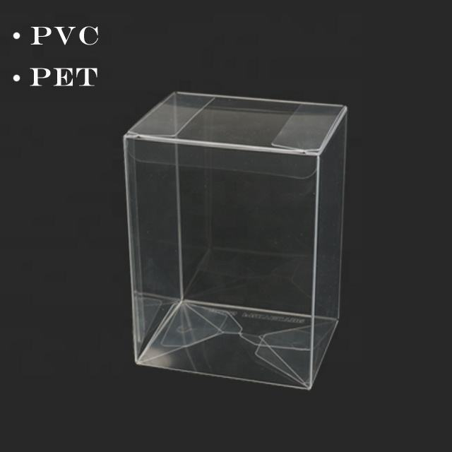 Cube Acetate Gift Box Transparent PET Cake Packaging Crytal Clear PVC packing Boxes