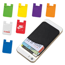 Sedex Factory Silicone Card Holder ID Card Holder 3M Sticker Phone Wallet with Custom Logo silicone Phone Card Holder Wallet