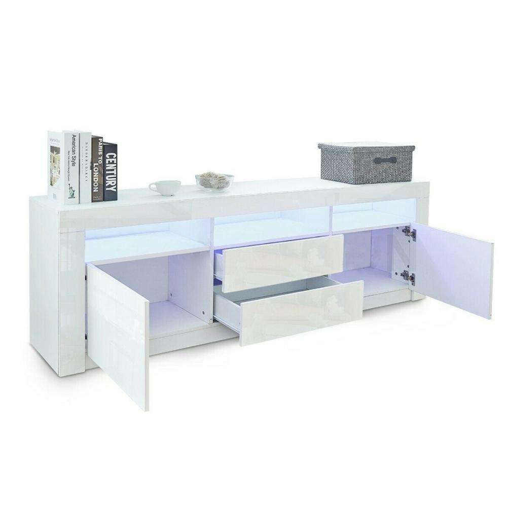 cheap flat package melamine MDF commercial tv stand