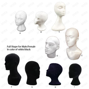 Styrofoam Wig Head Foam Mannequin Female Head Model Wig Glasses Hat Display Stand
