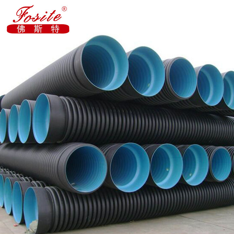 High Density Polyethylene Double Wall Corrugated Pipe HDPE Drain Pipe Big Diameter für abfließen wasser Factory Top Quality