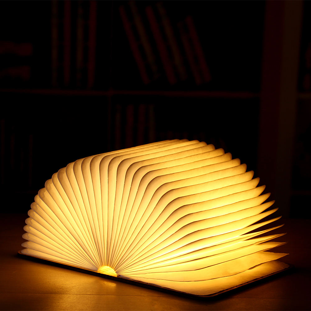 Magnetic settings folding Wooden paper book lamps creative gifts LED lights lighting and decorations Creative led light