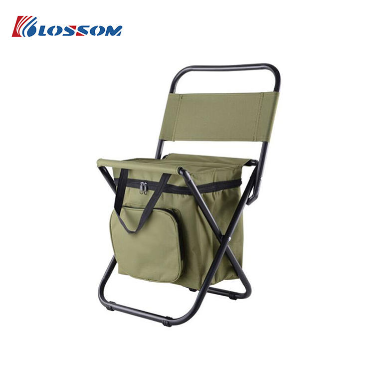 Fabric Fishing Chair Outdoor Foldable Backpack Picnic Fishing Chair With Cooler Bag