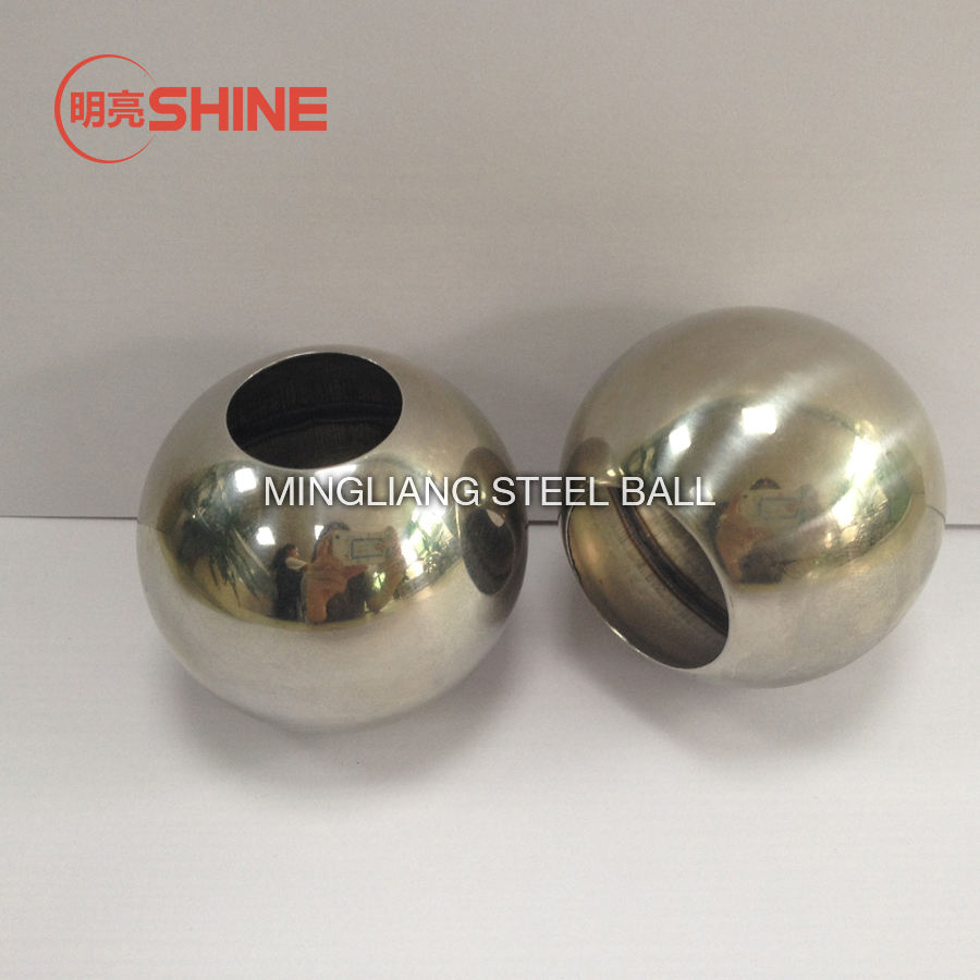 OEM Wholesale drilled 6 inch 150mm hollow steel ball with hole
