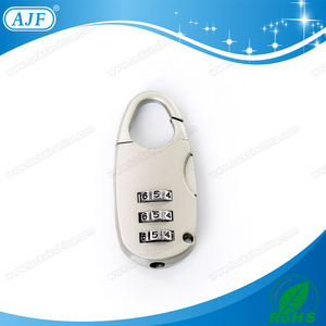 China Factory Good Service AJF Best Number Combination Bag Lock for Luggage Bag