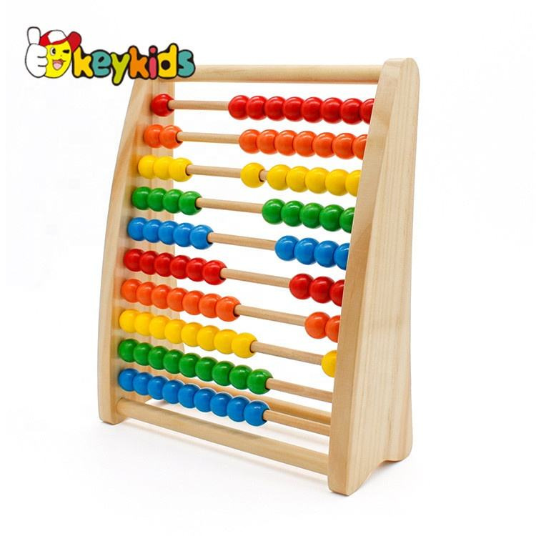One-Stop Service Abacus Wooden Toy 2019 New Sale Educational Wooden Abacus Toy For Children W12A021