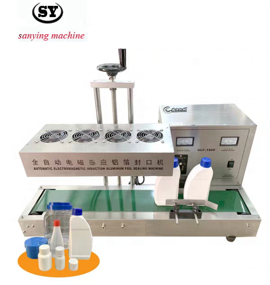 6000 Continuous Bottle cap sealer/Aluminum Foil Induction Sealing machine