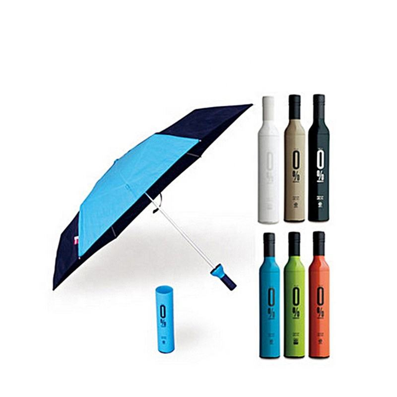 Promotional Mini Rain Umbrella China Supplier Cheap Wine Bottle Logo Printed Umbrella in a Bottle