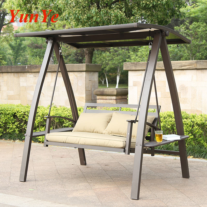 Modern Outdoor Garden Furniture Wicker Rattan Hanging Swing Chair with Stand