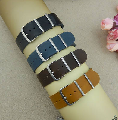 Factory direct sale genuine leather watch strap cheap soft good quality watch band with clasp