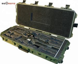 waterproof military equipment case rotomolded box with high quality transport gun carrying tool
