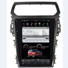 Android 2 din car stereo with tesla 12.1inch screen for Ford Expedition 2013