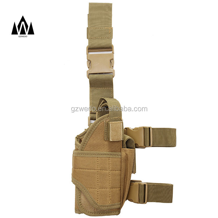 Right Drop Leg Adjustable Tactical Army Pistol Gun Thigh Holster Pouch Holder for Glock 17 19 31 32 most pistol
