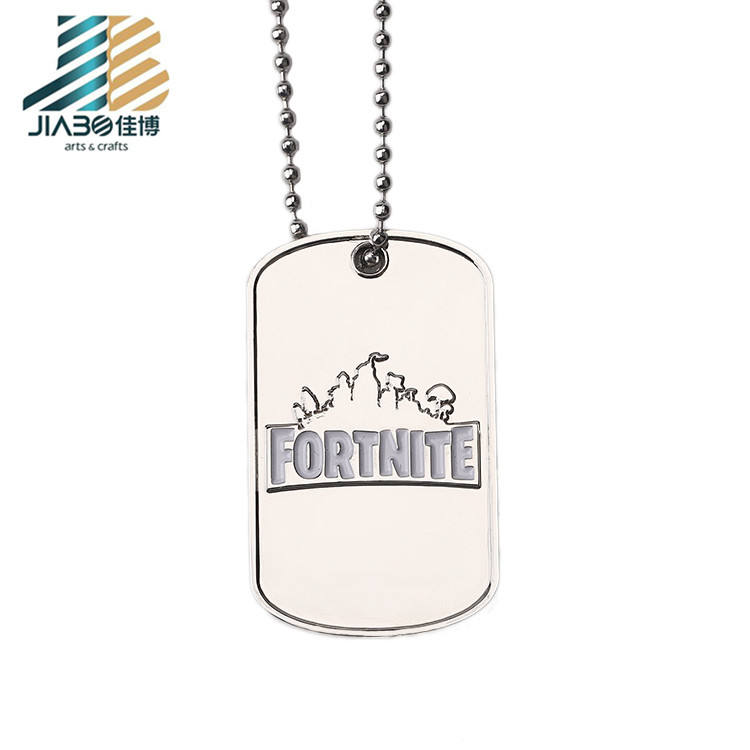 For Souvenir Cheap Custom Engrave Logo Blank Dog Tags Necklaces
