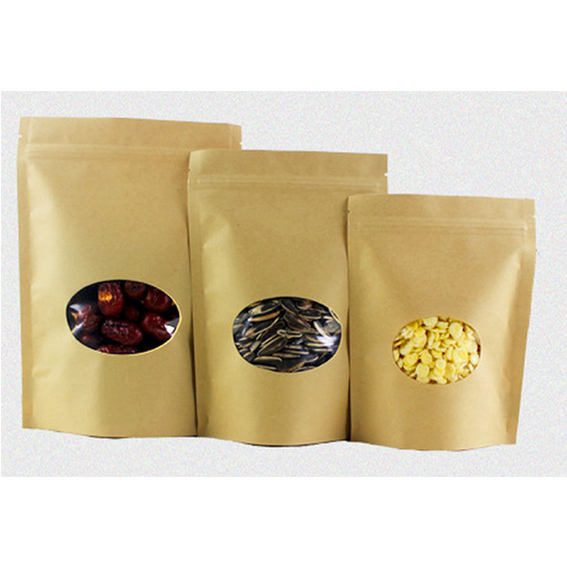 small stand up kraft pouch zipper bag logo spices packaging