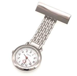 New Stainless steel Nurse Doctor Pendant Pocket Quartz Brooch Nurses Watch