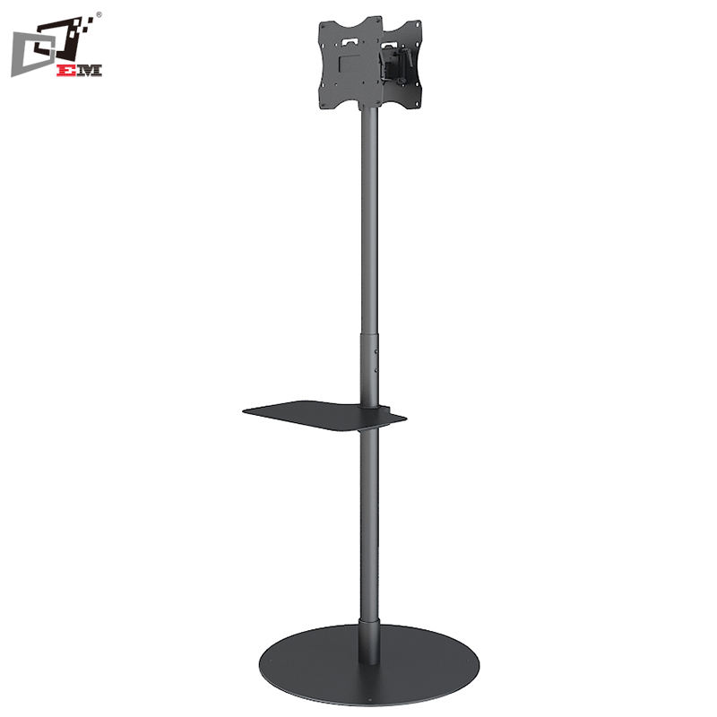 Vertical Or Back To Back Dual LCD TV Floor Stand With Height Adjustment