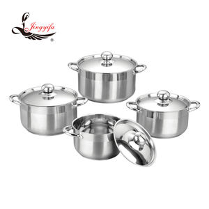 8 PCS wholesale stainless steel cooking pot with various colors and size 18 to 22cm