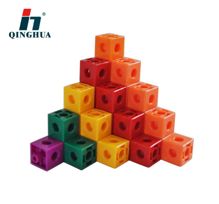 Educational Toy 5 colors Counting Cubes Snap Blocks Teaching Math Manipulative Colorful Plastic Centimetre Cubes Kids