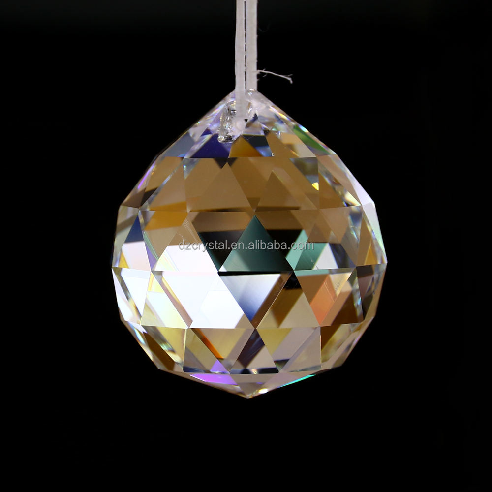 30mm clear faceted crystal ball chandelier trimming machine cut crystal K9 crystal ball