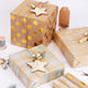 Brown printed gift kraft wrapping paper for flowers printing wrapping