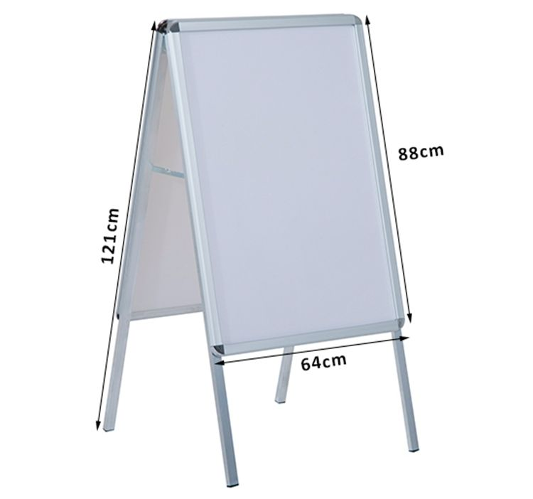 Custom Cheap Aluminum Double Side A Frame Sign A1 Trade Show Poster Display Stand