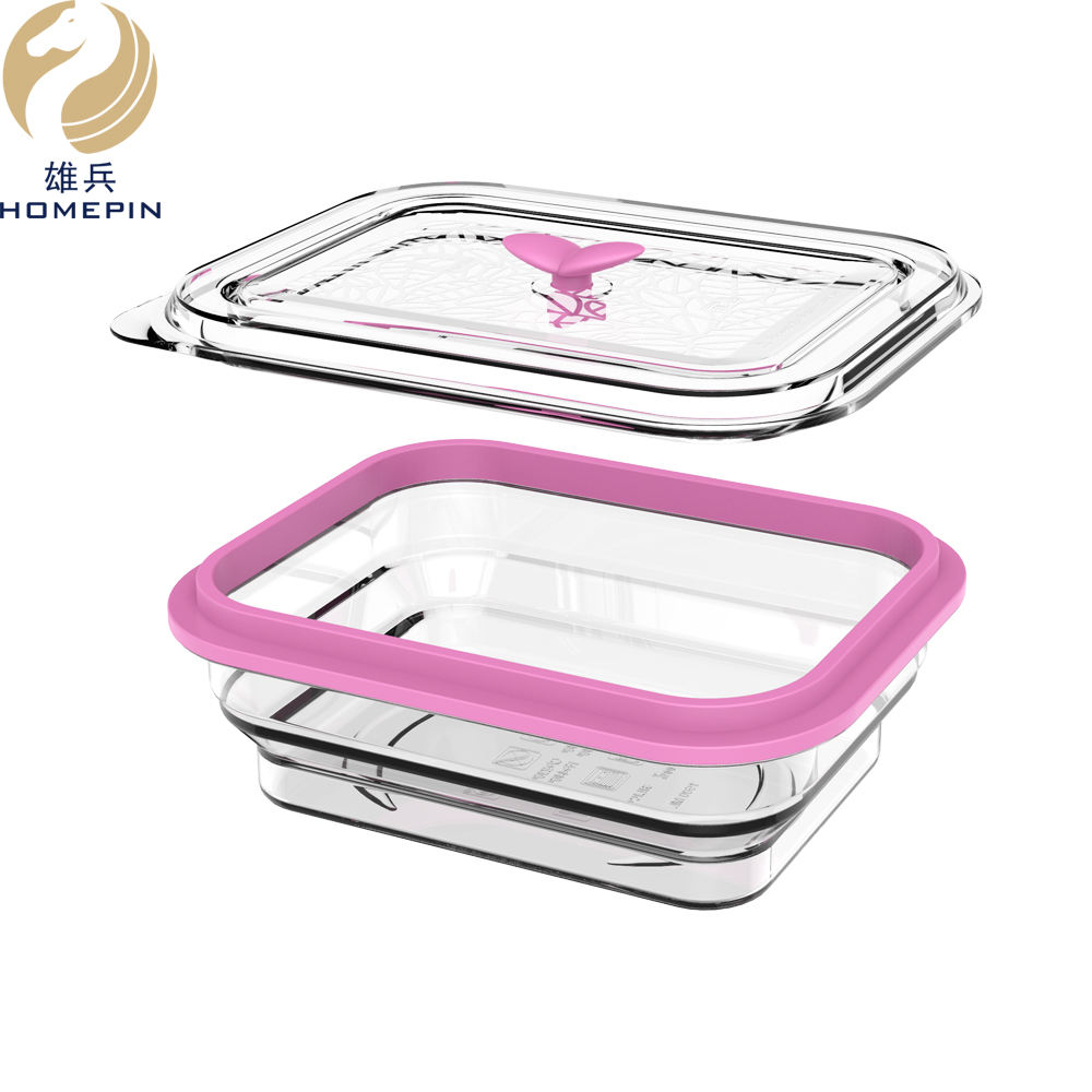 1.5L Eco Friendly FDA Custom Size 실리콘 Collapsible 도시락 Lunch Box