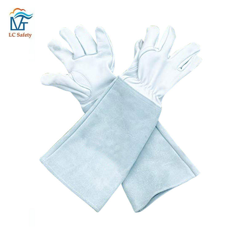Gauntlet Rose Pruning Leather Garden Gloves Long Cowhide Thorn Proof Glove for Men and Women