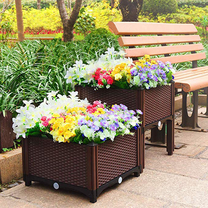 Suntour Patio Backyard Porch Home planter box Garden Decoration Gift