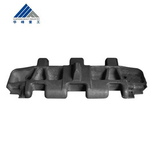 Mining Machinery Casting Low Alloy Steel Wheel Loader Crawler Excavator Track Pad