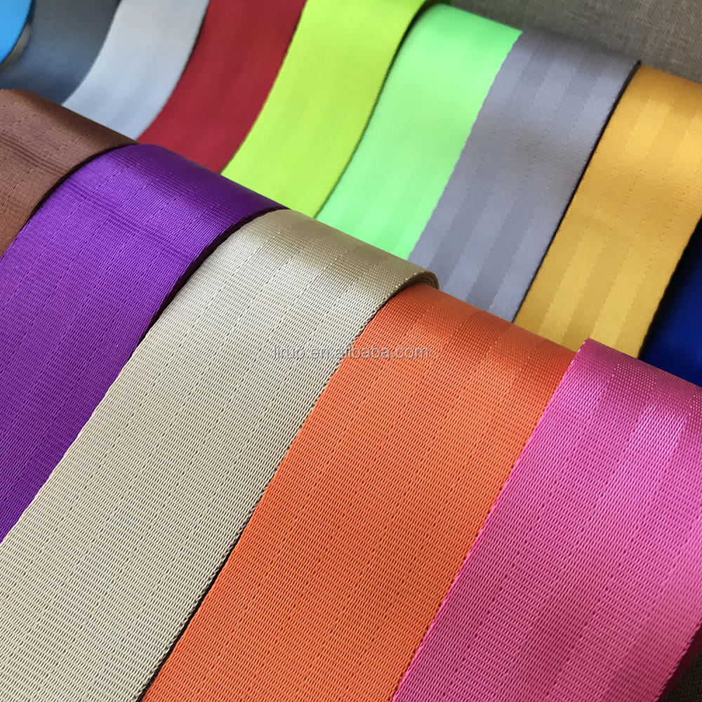 Best price colorful polyester seat safety belt webbing for car