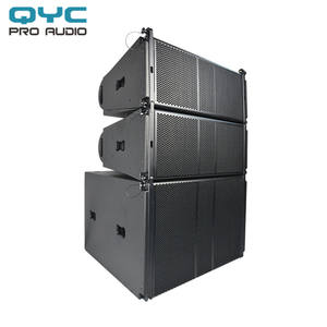 QYC passive Line array dual 10 inch speakers portable line array system professional