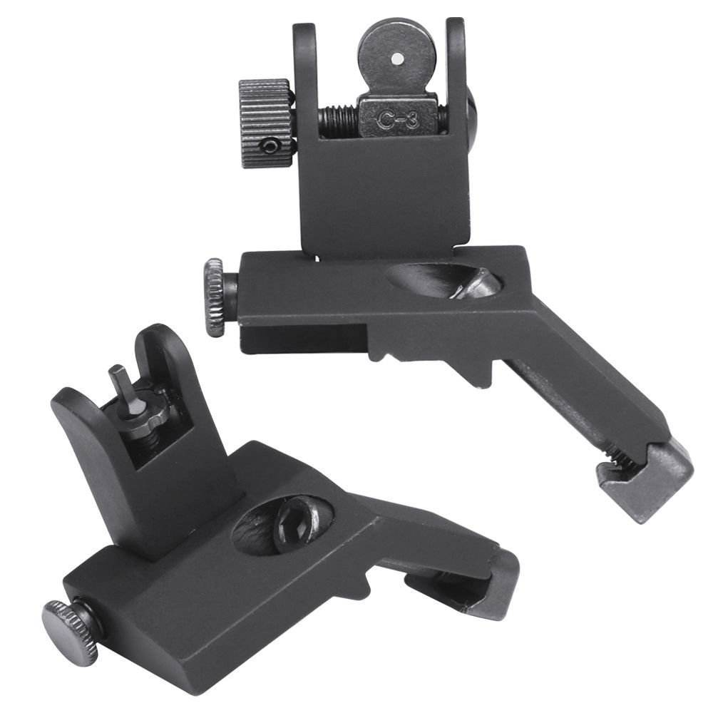 Tactical AR15 Front And Rear Flip Up Sight Offset Folding Sights AR 15 Sights