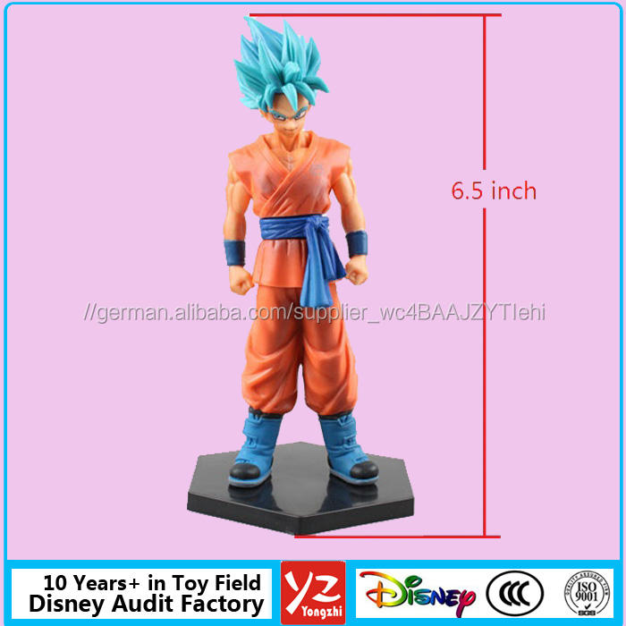 Nach Maß 6,5 zoll Dragon Ball Z Pvc-abbildungen von Disny Spielzeug Hersteller, collect gute qualität pvc figur Goku