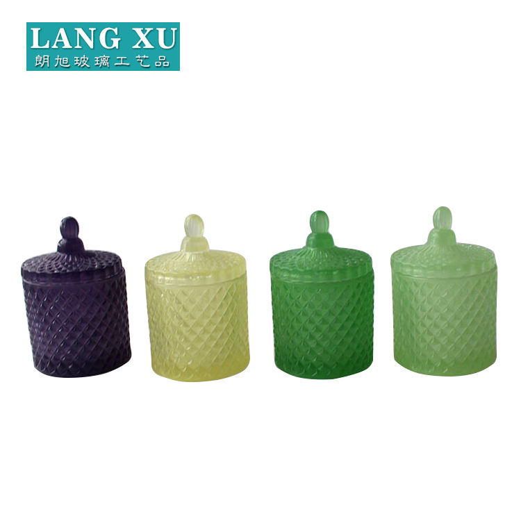 LXHY-T066 hot sell 장식 다이아몬드 (eiffel tower) 패턴 vintage style different sizes <span class=keywords><strong>geo</strong></span> 컷 (gorilla glass) candle <span class=keywords><strong>jar</strong></span>