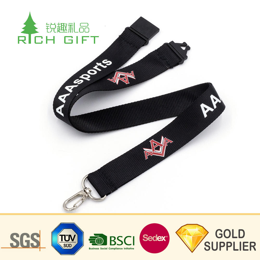 Wholesale alibaba custom high end thermal transfer colorful printing car logo lanyard for car exhibition staff