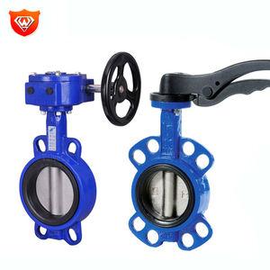 EN593 Dn40-800 Water Control Shaft Butterfly Valve With Lever