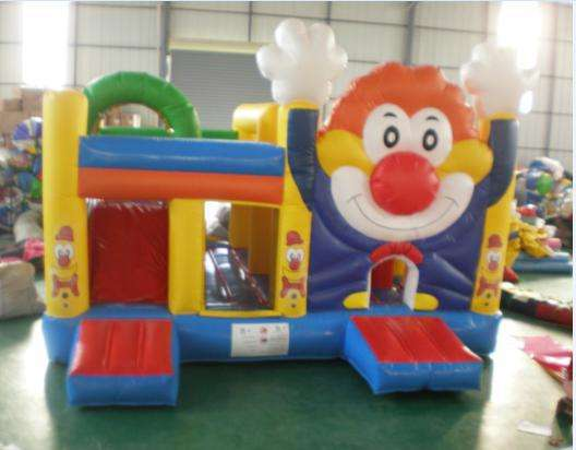 Clown children's inflatable bounce house