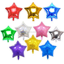 18inch Party Foil Helium Balloon/ metallic star shape foil baloon/Adult Party Balloon