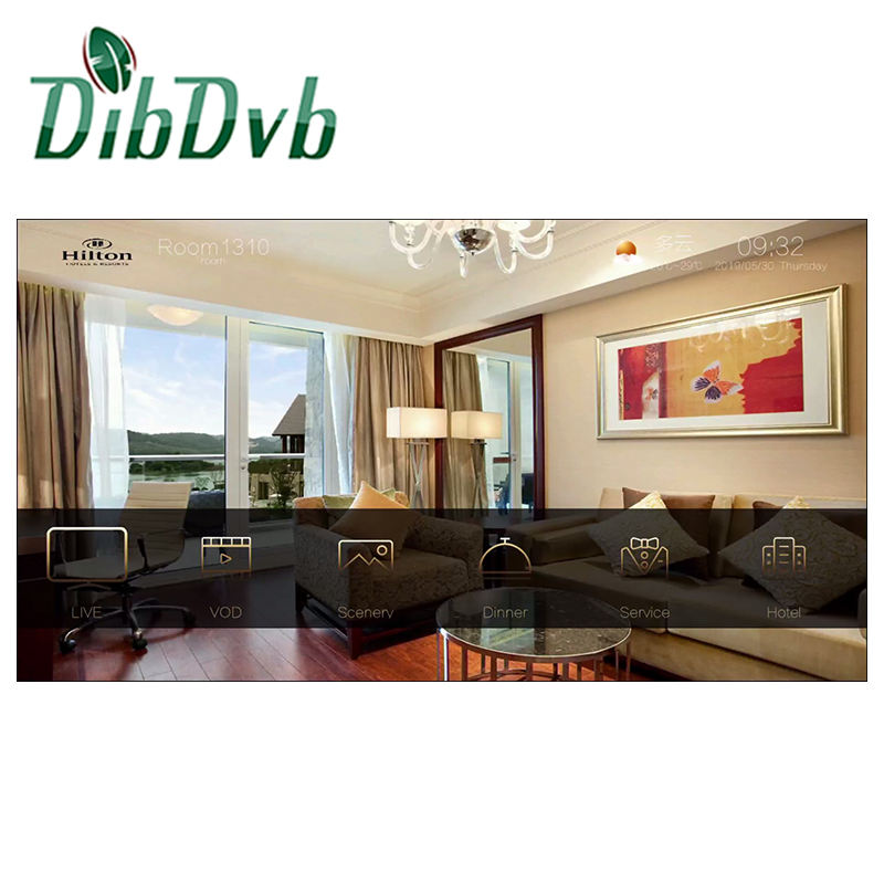 Hotel IPTV System Solution with middleware and headend equipments ird encoders