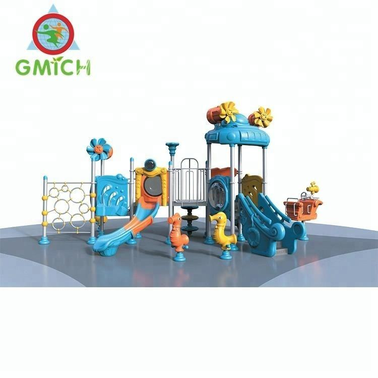 JMQ-H013 2018 Newest plastic slides China combined slide outdoor playground for children
