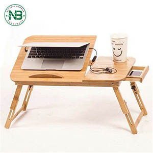 휴대용 bamboo foldable laptop 표 대 한 office 나 홈